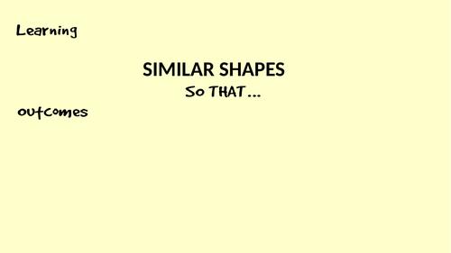Similar Shapes Lesson