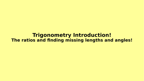 Introduction to Trigonometry - Full Lesson