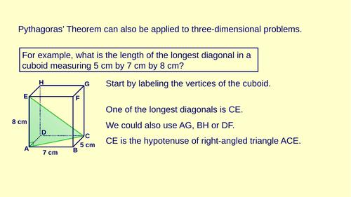 3D Pythagoras Full Lesson