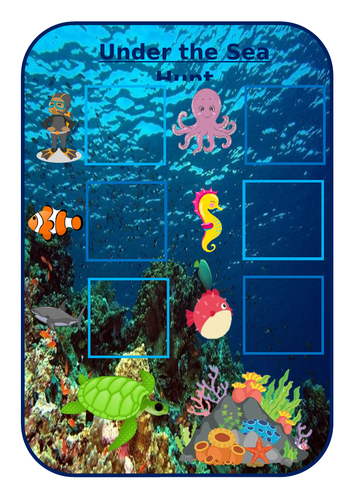 Under the sea scavenger hunt