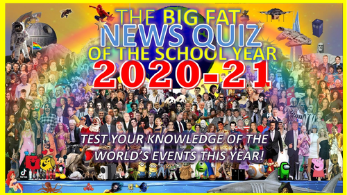 The Big Fat News Quiz of the School Year 2020-2021 End of Summer Term Form Registration Cover