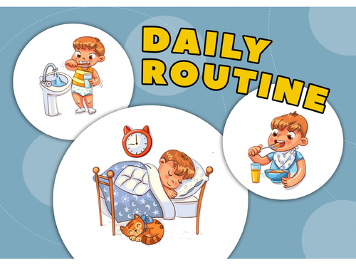 DAILY ROUTINE power point game