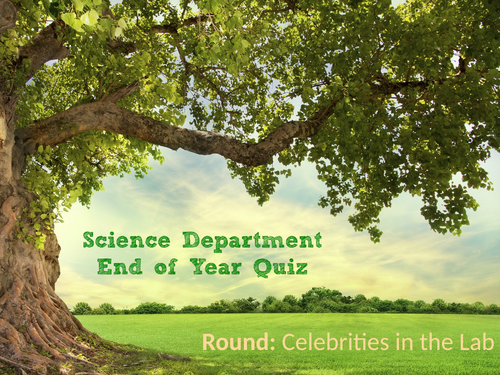 Science End of Year Quiz 2021