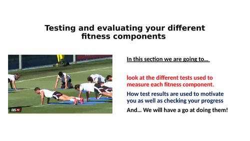 Edexcel GCSE PE Fitness Testing Lesson