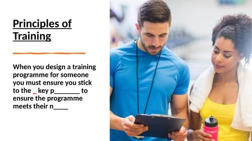 Edexcel GCSE PE Principles of Training Lesson