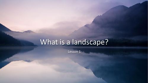 KS1 Landscapes Painting  Art and Design