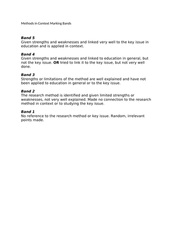 Sociology methods in context booklet