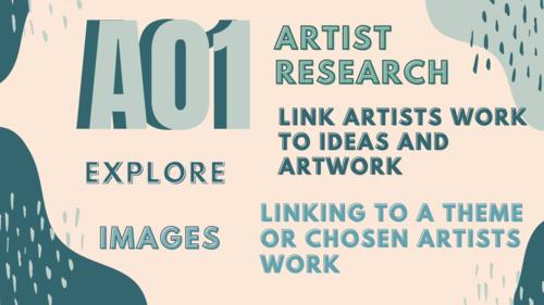 ART GCSE AO's Poster - Assessment Objectives