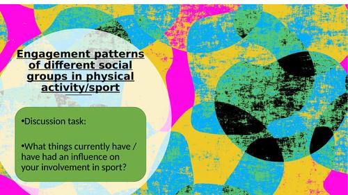 Edexcel GCSE PE Engagement patterns of different social groups lesson