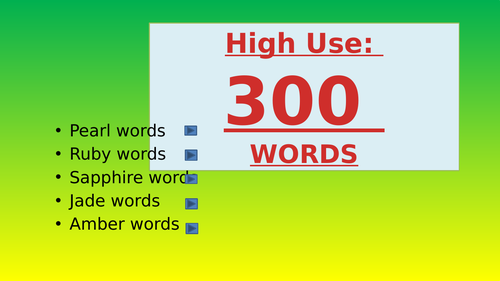 High use words; the next 201 - 300