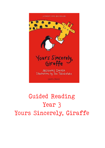Yours Sincerely, Giraffe Guided Reading Pack