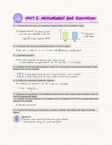 IB SEHS Unit 6 Measurement and Evaluation (SL)