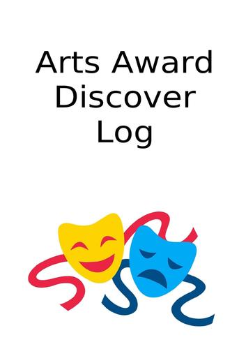 Arts Award Discover Log