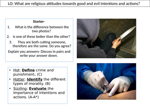 WJEC GCSE RE Unit One - Crime and Punishment Morality