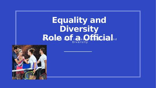 Unit 2 Practical Sports Performance (Equality & Diversity)