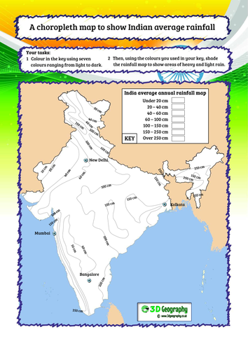 Monsoon climates, The Indian monsoon, Climate graphs