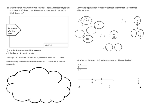 Place Value Word Problems Year5/6