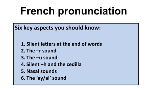 Pronunciation Practice- Part1- GCSE and A Level French