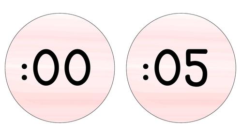 Pink Pastel Clock Display
