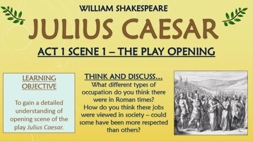 Julius Caesar - William Shakespeare - Act 1 Scene 1!
