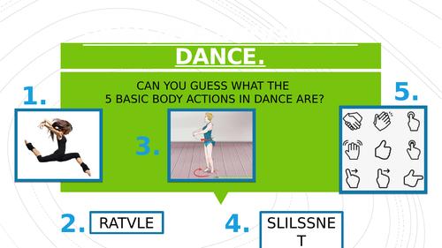 Dance Basic Body Actions