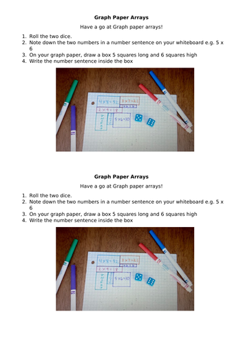 Graph Paper Arrays - Times Tables Game