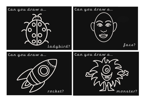 Drawing Challenge Cards Set 1