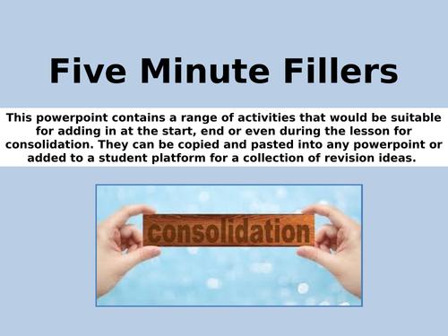 Five Minute Fun Fillers - AQA Sociology