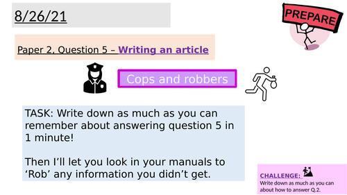 AQA Paper 2 Q.5 - Writing an article