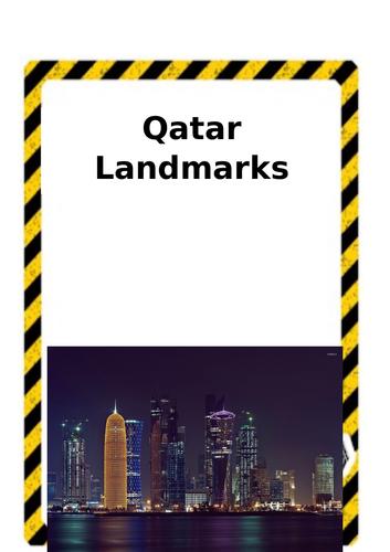Qatar Landmarks Construction Cards