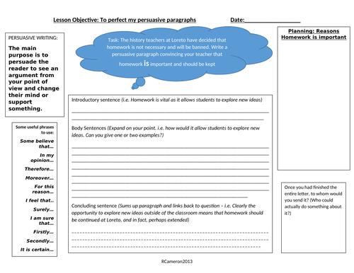 Perfecting Persuasive Paragraphs