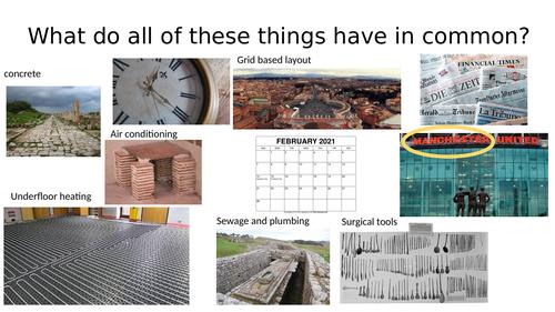 The Romans Unit year 5 6 lessons