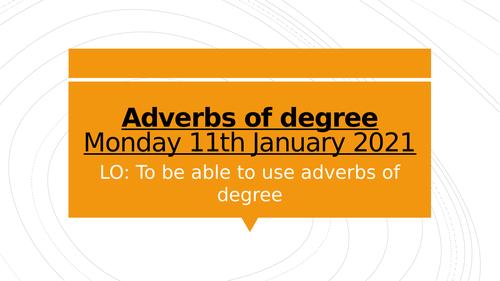 Adverbs of degree year 5 grammar lesson