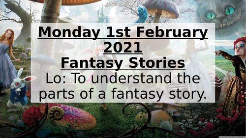 Year 5 Fantasy Stories Unit Creative writing