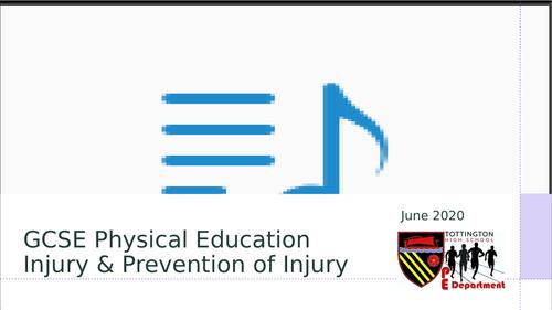 Injury and Injury Prevention Edexcel