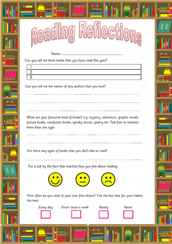 Reading Reflection Questionnaire for children