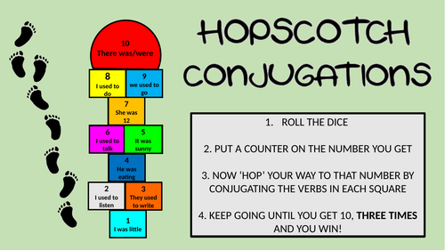 Hopscotch Conjugations