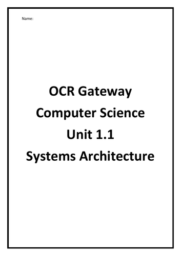Computer Science GCSE OCR I Unit 1.1 I Systems Architecture