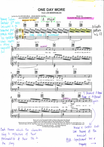 One Day More - Les Misérables Annotated Score
