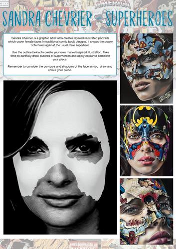 Art & Design Cover Lesson - Marvel Superheroes (Sandra Chevrier)