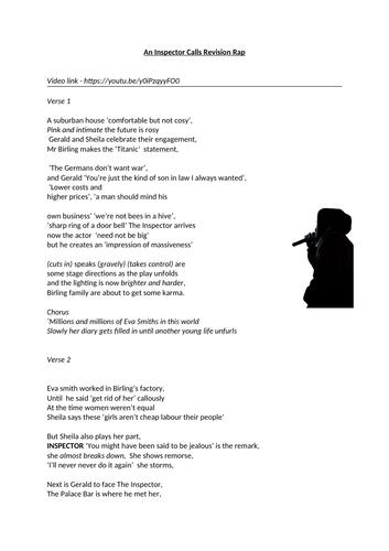 An Inspector Calls Revision Rap