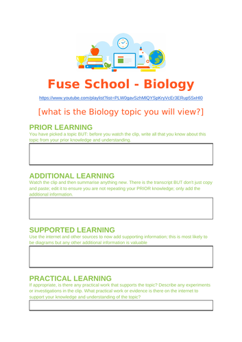 Biology Review using Fuse School videos