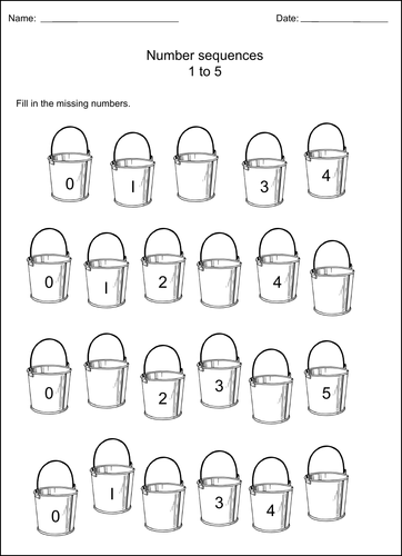 EYFS/Key Stage 1 Maths - Sequencing  Worksheets