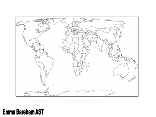 World Map By TESCommunity Teaching Resources Tes - World map blank for students