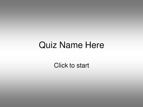Powerpoint Quiz Template. Assessment.10 Questions.