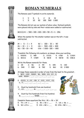 Roman numerals by eamlarkin teaching resources tes ibookread Download