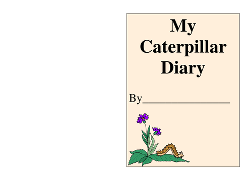 caterpillar diary front cover