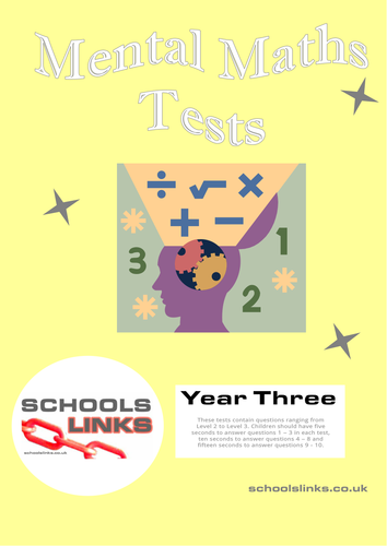 Mental Maths Tests for Year 3