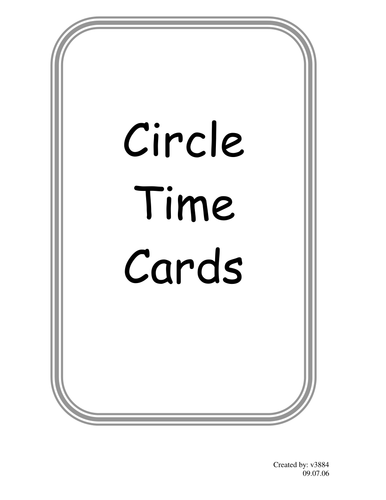 Circle Time Cards