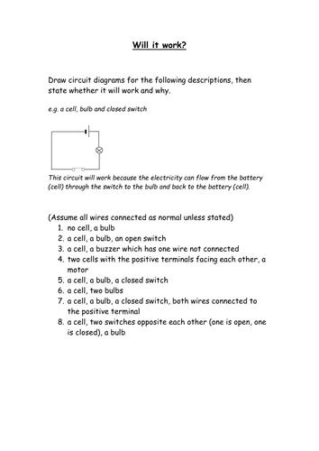 circuit diagrams | teaching resources year 7 circuit diagrams circuit symbols tes